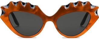 Gucci two-tone Interlocking G cat-eye sunglasses