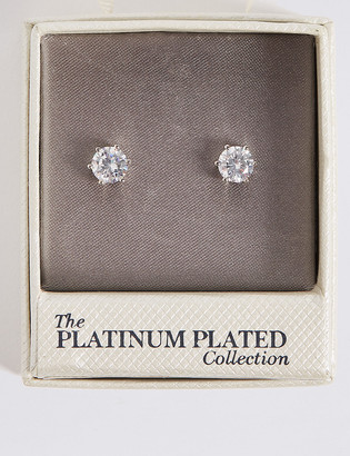 Marks and Spencer Platinum Plated Diamante Stud Earrings