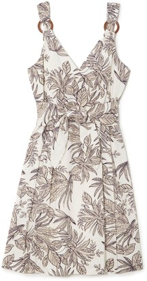 Vince Camuto Tropical-print Fit & Flare Dress