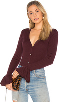 Charli Senna Cardigan in Wine. - size M (also in S,XS)