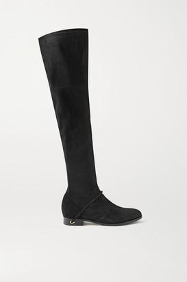 Jennifer Chamandi Silvio Suede Over-the-knee Boots - Black