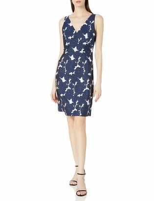 Lark & Ro Women's Sleeveless V-Neck Jacquard Dress