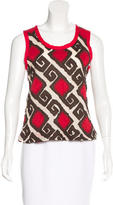 Tory Burch Patterned Sleeveless Top