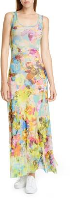 Fuzzi Floral Tank Maxi Dress