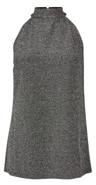 Dorothy Perkins Womens Tall Silver Halter Neck Top, Silver