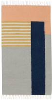 ferm LIVING Kelim Rug - White Lines - 80x140 cm