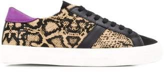D.A.T.E leopard panel sneakers