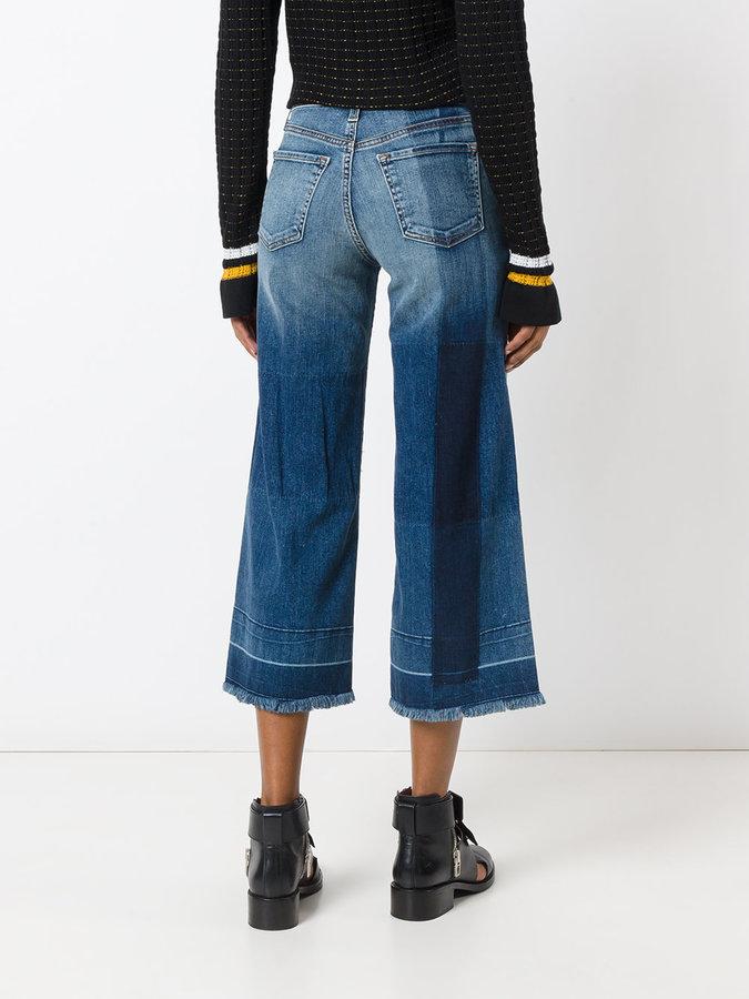 J Brand cropped wide-leg jeans