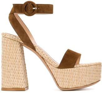 Gianvito Rossi Woven Style Platform Sandals