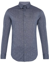 Giorgio Armani Single-cuff Point-collar Cotton Shirt
