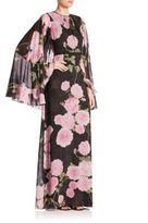 Giambattista Valli Floral Cape Maxi Dress