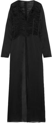The Row Sabrina Ruched Silk-chiffon Maxi Dress