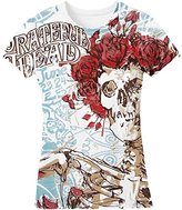 Liquid Blue Women's Grateful Dead Classic Bertha All Over Print Graphic Tee