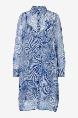 Baum und Pferdgarten Agatha Shirt Dress Blue Tiger Shell - 34 - UK8 / Blue Tiger Shell