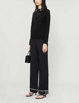 Claudie Pierlot Mignon embellished-collar wool jumper