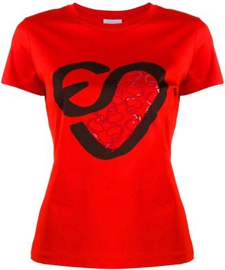 Escada Sport logo embroidered T-shirt