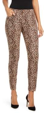 INC International Concepts Inc INCEssential Leopard-Print Curvy-Fit Skinny Jeans, Created for Macy's
