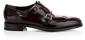 Salvatore Ferragamo Men's Adison Double Monk Strap Leather Dress Shoes
