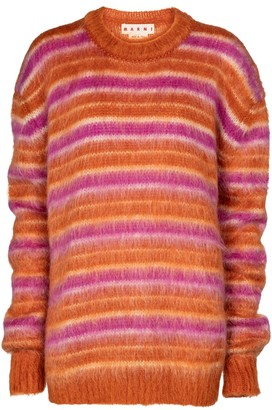 Marni Striped mohair-blend sweater