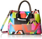 Milly Hexagon Tote Convertible Top Handle Bag