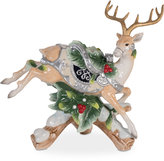 Fitz & Floyd Bristol Holiday Deer Downward Leap Candleholder Figurine