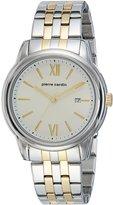 Pierre Cardin Men's 41mm Two Tone Steel Bracelet Quartz Watch Pc901851f04