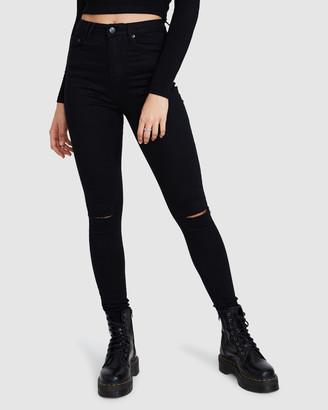 Insight Sami Super High Rise Slash Jeans
