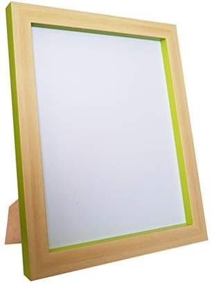 FRAMES BY POST Magnus Picture Photo Frame, Beech/Green, Size A4
