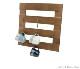 Mind Reader 9-Hook Coffee Cup Rack, Coffee Mug Storage Organizer