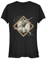 Fifth Sun Women's Tee Shirts BLACK - Assassin's Creed Black Diamond Alexios Crewneck Tee - Women & Juniors
