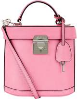 Mark Cross Benchley Grained Leather Shoulder Bag, Pink, One Size