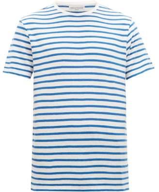 Officine Generale Striped Cotton-blend Jersey T-shirt - Mens - Blue White