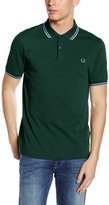 Fred Perry Slim Fit Twin Tipped Polo Shirt Green S