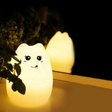 LIYUDL Silicone Cat LED Children Animal Night Light,7-Color Breathing Dual Light Modes, USB Rechargeable Lighting,Soft Cartoon Baby Nursery Lamp