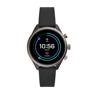 Fossil Women's Sport Heart Rate Metal and Silicone Touchscreen Smartwatch
