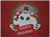 "St. Nicholas Square® ""Happy Holidays"" Snowman Placemat"