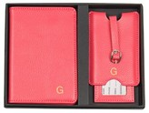 Cathy's Concepts Monogram Passport Case & Luggage Tag - Pink