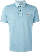 Stone Island logo patch polo shirt - men - Cotton - M
