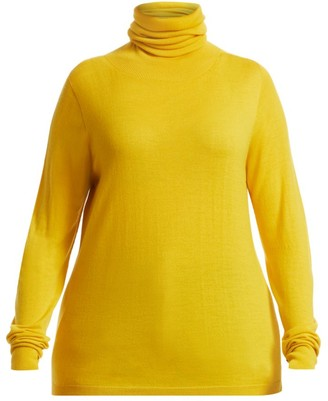 Marina Rinaldi, Plus Size Atletica Fine Stretch-Wool Rollneck Sweater