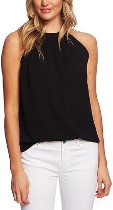 CeCe Pleat Halter Top