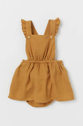 H&M Cotton Overall Dress - Yellow