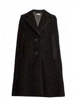 Miu Miu Notch-lapel guipure-lace and wool cape