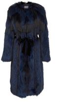 Monique Lhuillier Collarless Fox Fur Coat
