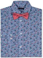 Tommy Hilfiger Floral-Print Long Sleeve Shirt & Bowtie, Big Boys