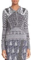 Altuzarra 'Rey' Fringe Trim Jacquard Knit Sweater