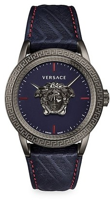 Versace Palazzo Empire Leather Strap Watch