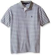 U.S. Polo Assn. Men's Big & Tall Slim-Fit Micro Shadow Stripe Polo Shirt