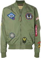 Alpha Industries (アルファ インダストリーズ) - Alpha Industries patch detailed bomber jacket