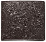 Pretty Green Paisley Embossed Bifold Wallet