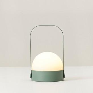 Indigo Small Orb Led Lantern Green